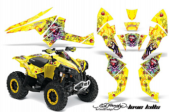 Графика AMR Racing LoveKills (желтая) для Can-am G1 короткий