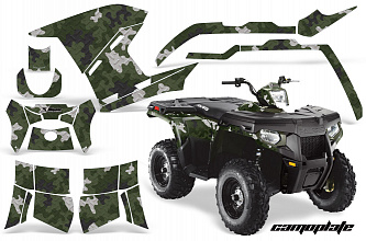 Графика AMR Racing Camoplate (Зеленая) для Polaris Sportsman 500/800