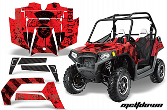 Графика AMR Racing Meltdown (красная) для Polaris RZR900XP