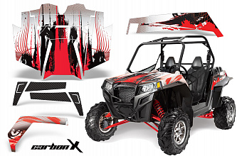 Графика AMR Racing CarbonX (красная) для Polaris RZR900XP